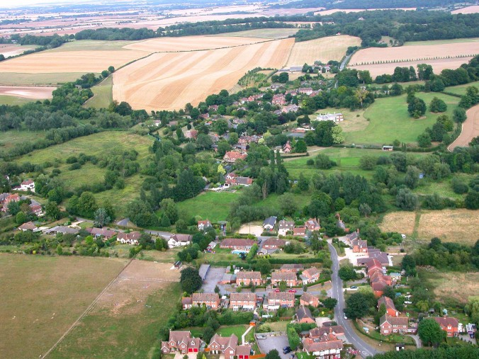 Aerial view of Boxford
