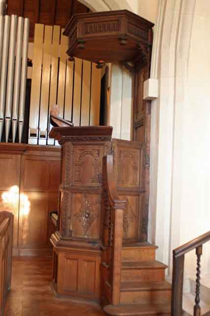 Pulpit in St Andrew's Boxford