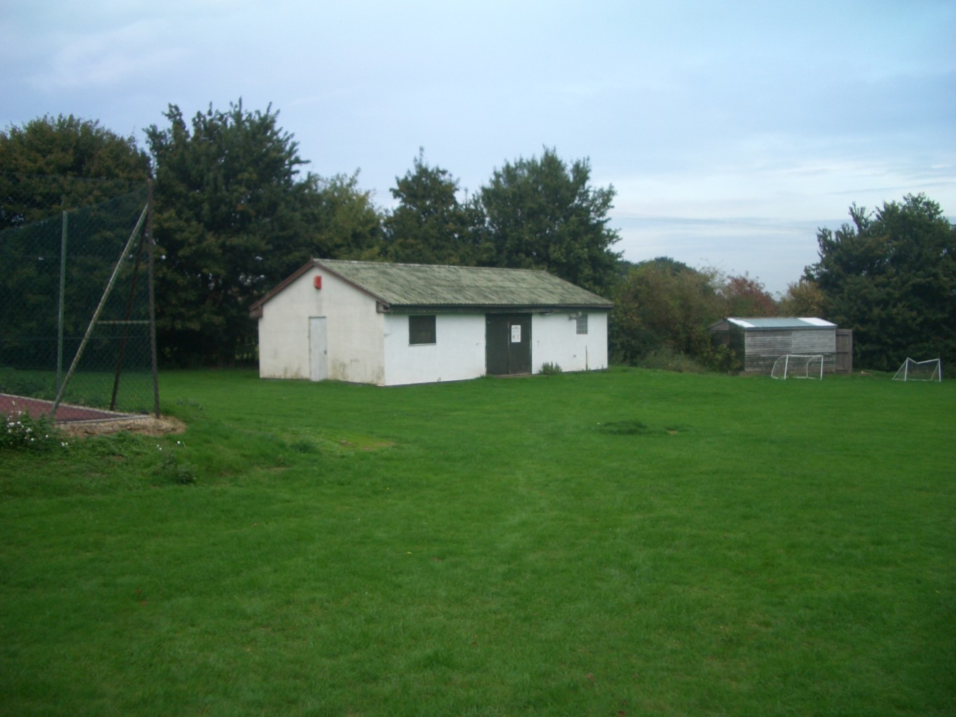 The old sports pavilion now replaced by the new Village Hall