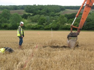 Removing topsoil from the trenches - the easy way!