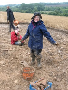 Janet - digging one of the villa wings