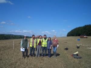 Steve (BARG) Matt, Natasha, Jez (Cotswold Archaeology) Lindsey (BARG) & Joy (BHP)