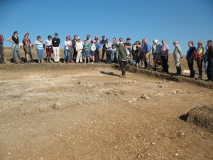 BARG project leader Steve, explaining the layout of the Roman bath house